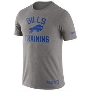 NFL Men's Buffalo Bills Nike Heathered Gray Training Performance T-Shirt