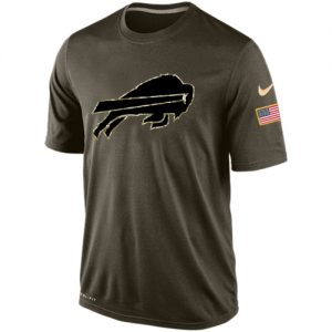 NFL Men's Buffalo Bills Nike Olive Salute To Service KO Performance Dri-FIT T-Shirt